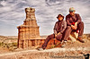 Jan 8, 2006: Me and K at the Lighthouse - in a 6mile loop trail, Palo Duro Canyon State Park,TX.
