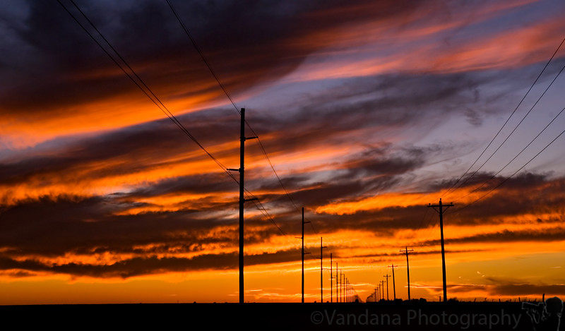 """September 30, 2006 - Fire in the sky  the sun <a href=""""http://vandana.smugmug.com/gallery/1550049/1/99027599/Large"""">set</a> today as usual, and I had to settle for the post-sunset scene with no time for sunflowers :)"""