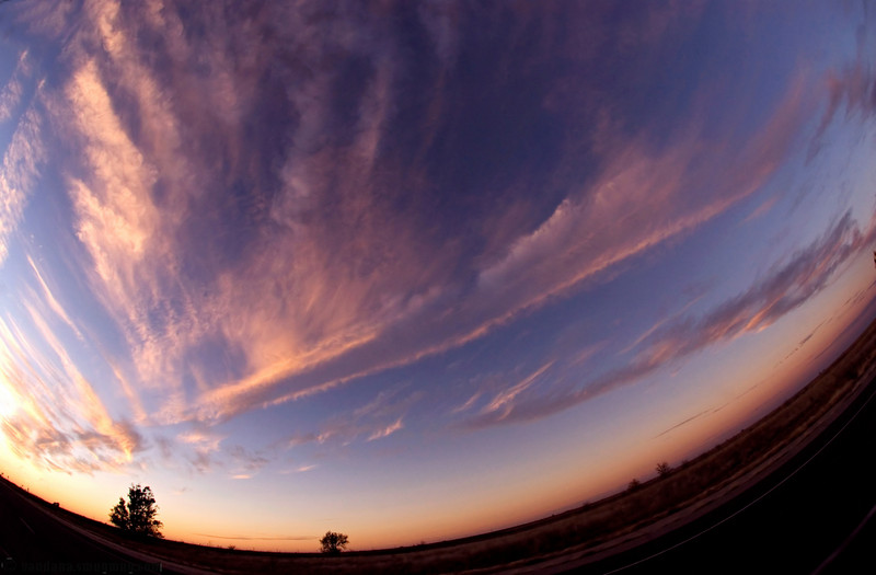 November 6, 2007 - Sunset thru the fish-eye