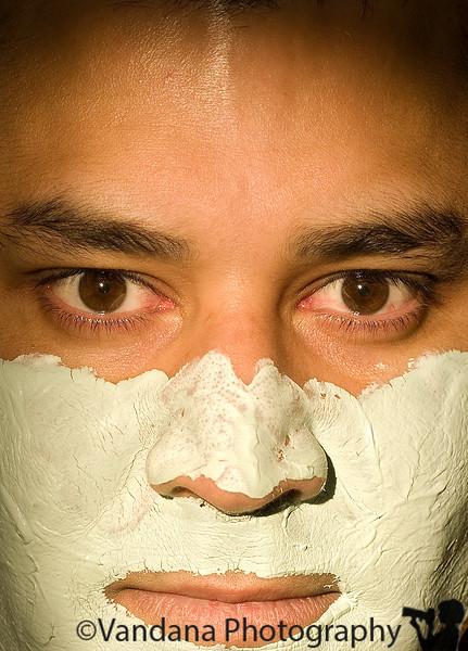 Feb 9, 2008 - Krishnan with a Mario Badescu face mask on