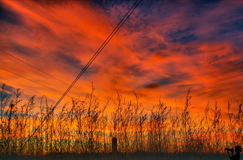 December 10, 2008 - Sunset at a farm