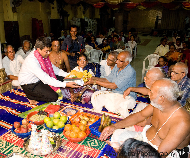 Jan 26, 2008 - A southindian marriage - a very elaborate religious process lasting over 3 days in a Mandapam (wedding hall)<br /> <br /> This is Swami, my brother, with my parents doing a Puja (religious rite) before the wedding..