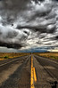 August 31, 2008 - Riders on the storm<br /> the road somewhere near Farmington, NM
