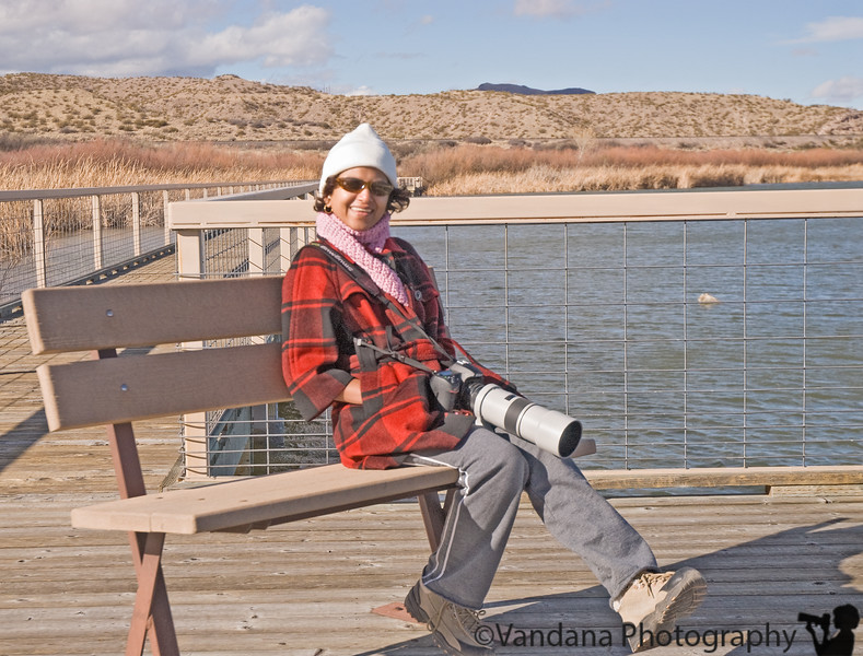 December 30, 2008 - One photographer at Bosque. <br /> In extremely cold and windy conditions. photo taken by K.