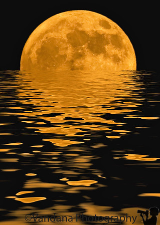 August 18, 2008 - Moonrise on water