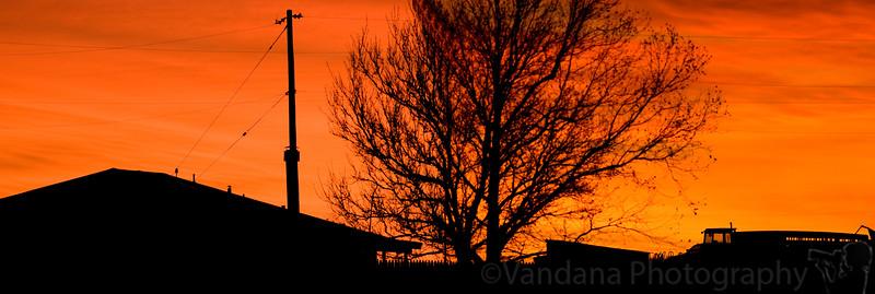 December 22, 2008 - Sunset in Clovis