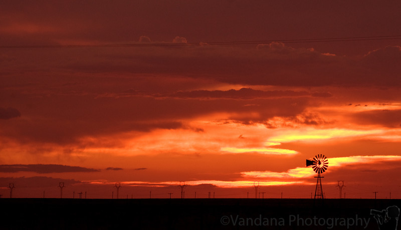 June 16, 2009 - The lone windmill at sunset