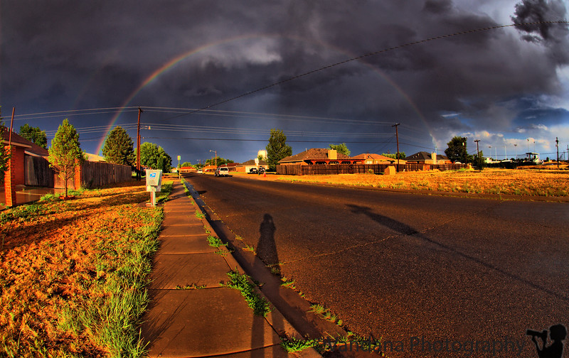 June 14, 2009 - A rainbow welcomes us back to Clovis, NM