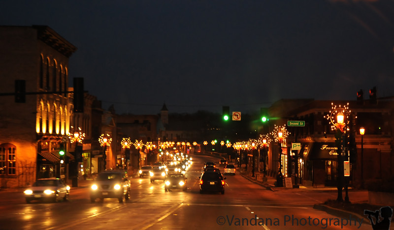 December 7, 2009 - Lighting up the night in East Dundee, IL