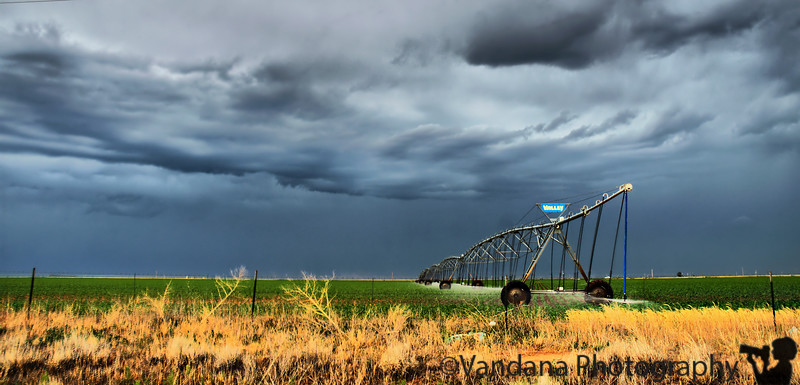 June 17, 2009 - The lovely water irrigation system, Clovis, NM.