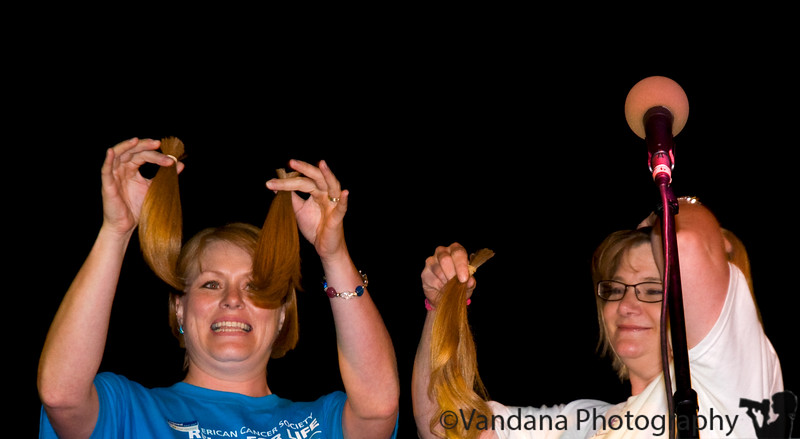 "May 8, 2009 - <a href=""http://www.locksoflove.org/"">Locks of love<a/>  Kim and Vicki donate their locks at Relay for life' 09"