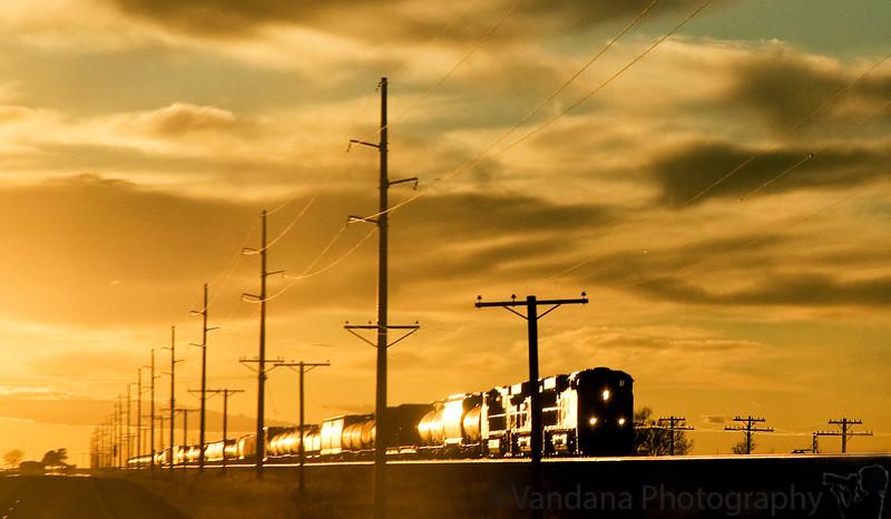 April 18, 2009 - Train into the light