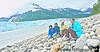 July 20, 2010 - a family picture at Childs glacier, Cordova, AK - V, K and V's parents