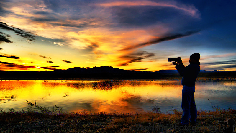 January 21, 2010 - K at work (play), at Bosque del apache NWR, NM