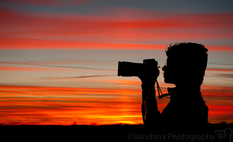 November 9, 2010 - the Photographer at sunset