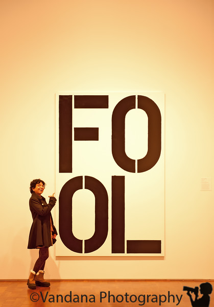 December 1, 2010 - 'Fool'  with artwork at Milwaukee art Museum !