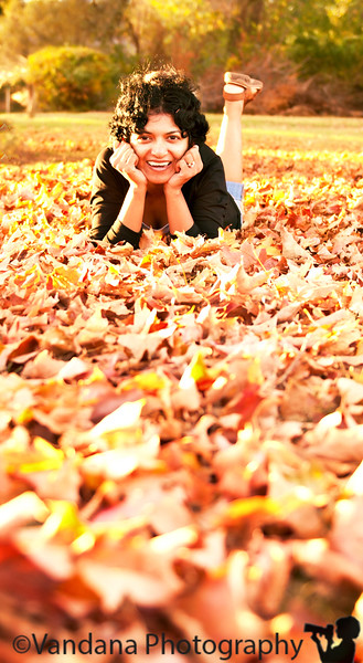 October 18, 2010 - V among the leaves