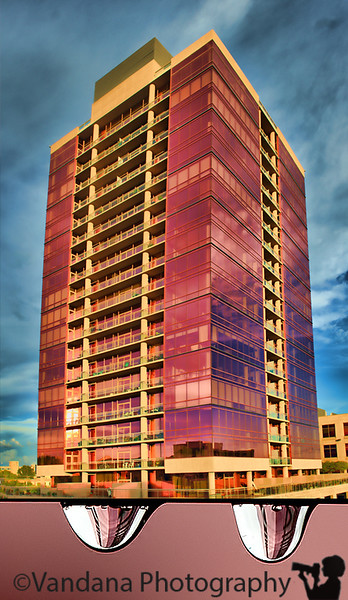 September 25, 2011 - the Pink building and its drop refractions