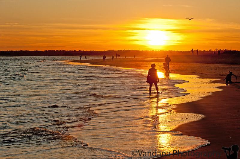 November 22, 2011 - Sunset on Wrightsville beach
