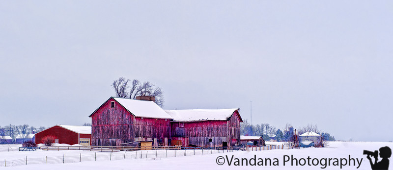 Feb 6, 2011 - Red barn in the snow