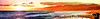 April 3, 2011 - sunset at Santa Monica beach, panorama<br /> see in X2L !