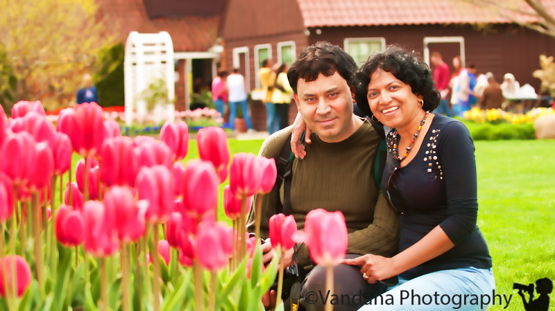 May 10, 2011 - Happy 11th anniversary to V and K !  at the tulip festival, Holland, MI