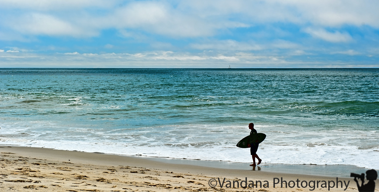 April 1, 2011 - surfer on the beach  from the weekend trip to SoCal