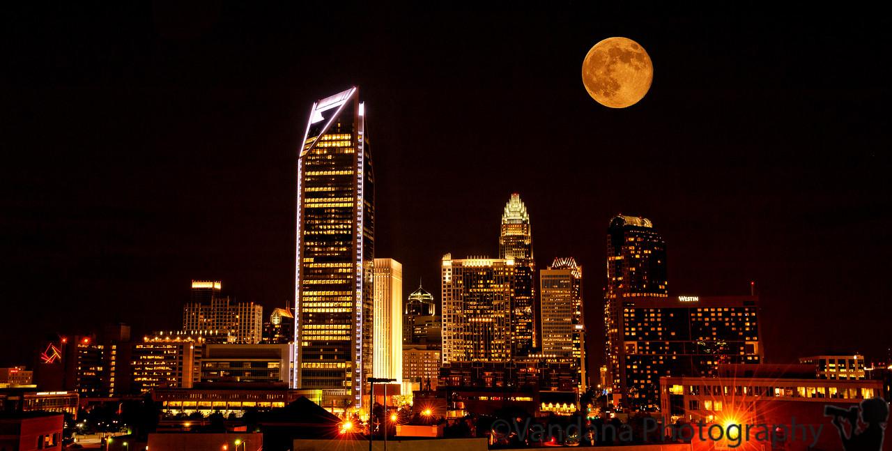 September 13, 2011 - Moon light in Charlotte
