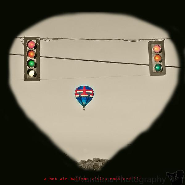 August 21, 2011 - a hot air balloon visits Rockford !