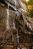 October 8, 2011 - Hickory Nut waterfalls, Chimney Rock State Park, near Asheville, NC - photo taken handheld ! <br /> <br /> a pleasant, 1.5mile round trip got us to this waterfall, not much water there tho ! early fall colors, expect peaking in next few weeks. off to Cherokee and Smoky mountains tomorrow !