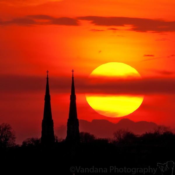 April 12, 2011 - Sunset at Peoria, IL
