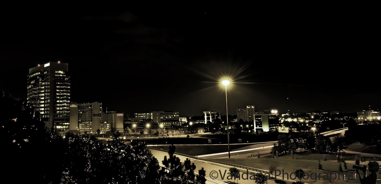 October 27, 2011 - a night in the city - a 30sec exposure of the city, trying my hand at night photography
