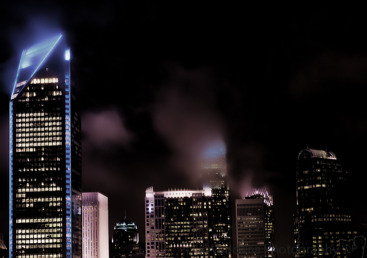 September 22, 2011 - on a dark and stormy night, Charlotte..