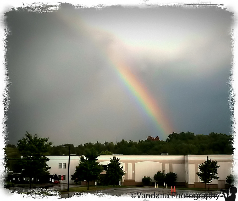 September 24, 2011 - A rainbow in Charlotte. very brief-lasting.. photo taken with iphone, processed in iphone