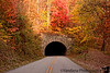 November 1, 2011 - the Grassy Knob Tunnel, at Blue ridge Parkway, NC