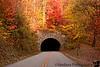 November 1, 2011 - the Grassy Knob Tunnel, at Blue ridge Parkway, NC