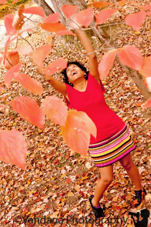 October 19, 2011 - V enjoying fall, photo by K