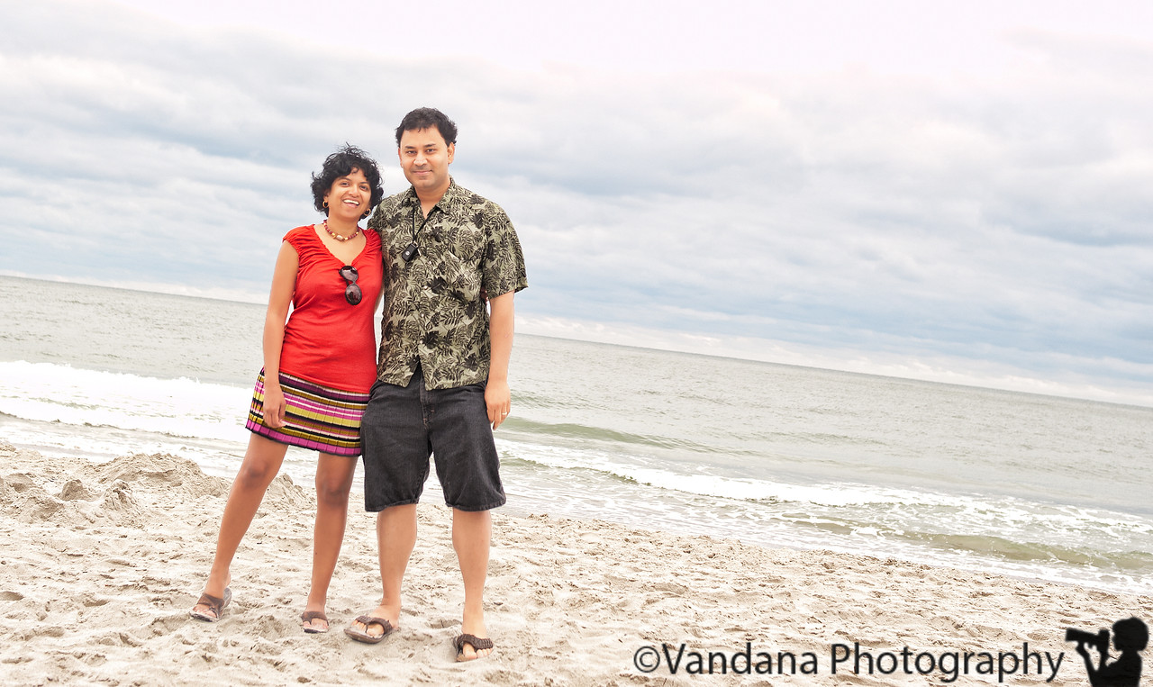 September 20, 2011 - V and K at Myrtle beach<br /> <br /> horizon tilted 'cause the camera was precariously perched on a leg of the lifeguard's bench..if I straighten the horizon in PS, I risk cutting off the legs, so.... :) !
