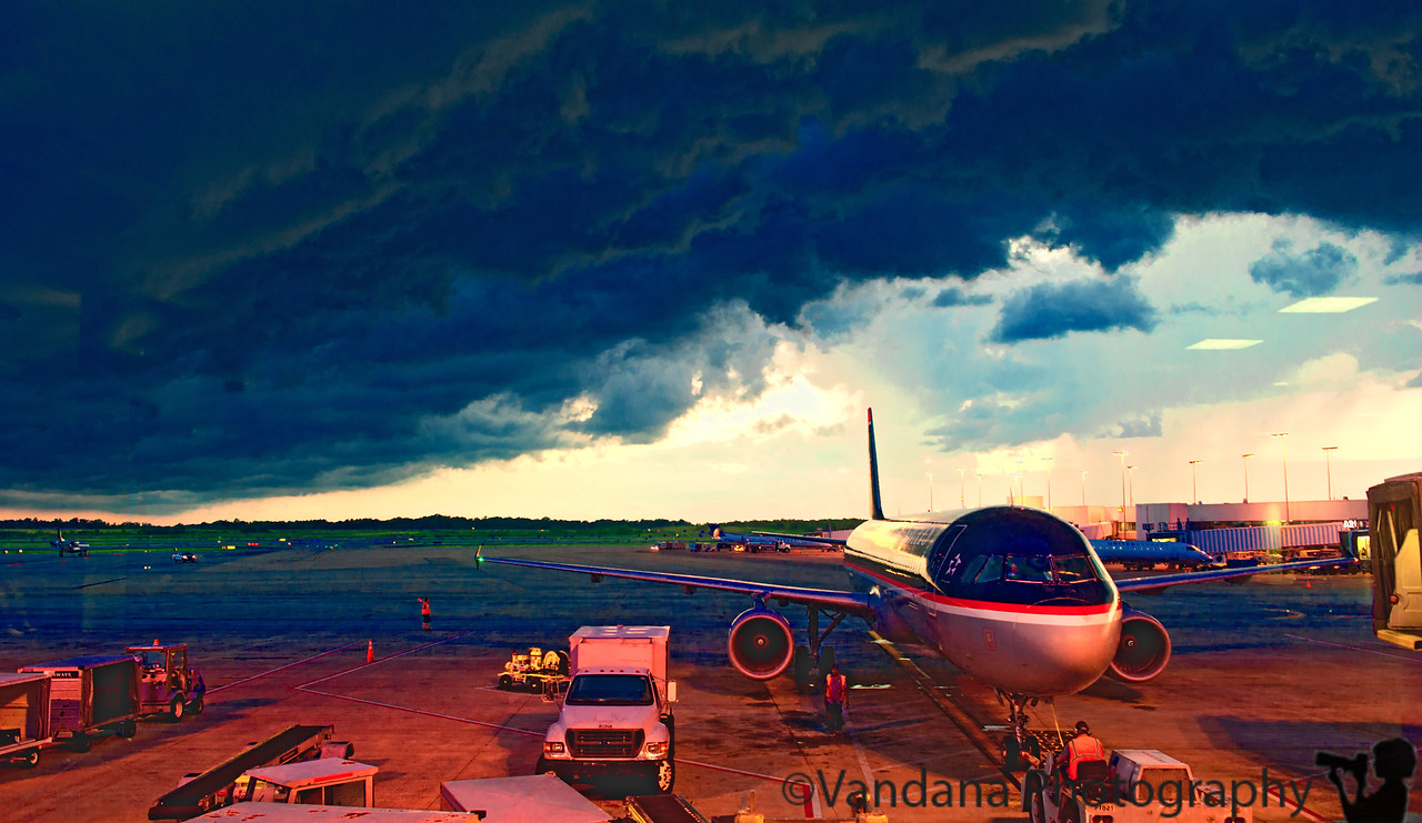 August 14, 2011 - At Charlotte airport on a stormy night