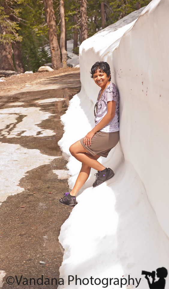 July 22, 2011 - Places with snow ! <br /> in 90+F now, remembering just last week at Yosemite, with snow as tall as me !