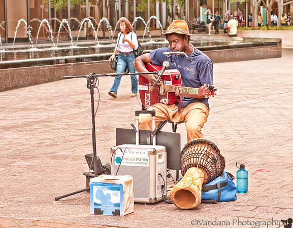 April 3, 2012 - Street music, downtown Charlotte