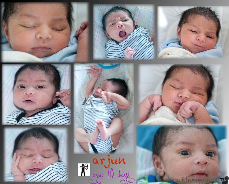 April 28, 2012 - Arjun turns 10 days old !