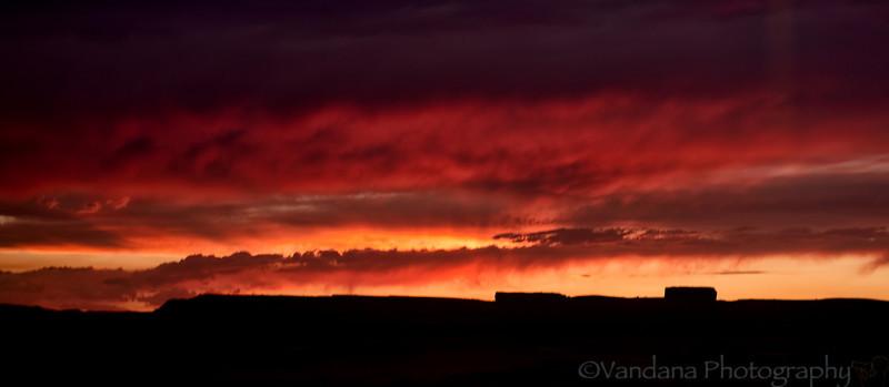 August 8, 2012 - a fiery sunset
