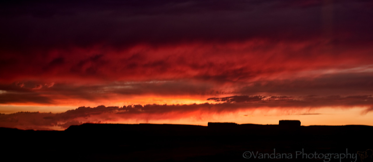 August 8, 2012 - a fiery sunset