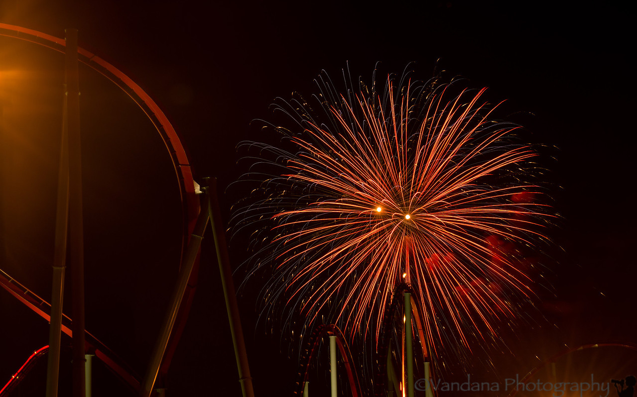 "July 7, 2012 - One more roller coaster ride  More fireworks shots <a href=""http://www.vandanaphotography.com/Travel/North-Carolina/Charlotte-July-4th-Fireworks/23984583_6sdDmc"">here</a>"
