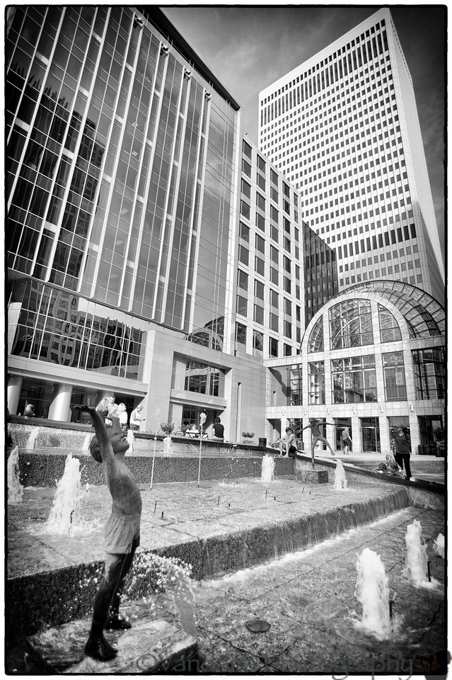 June 9, 2012 - the water fountains in Downtown Charlotte<br /> <br /> out for Taste of Charlotte festival !