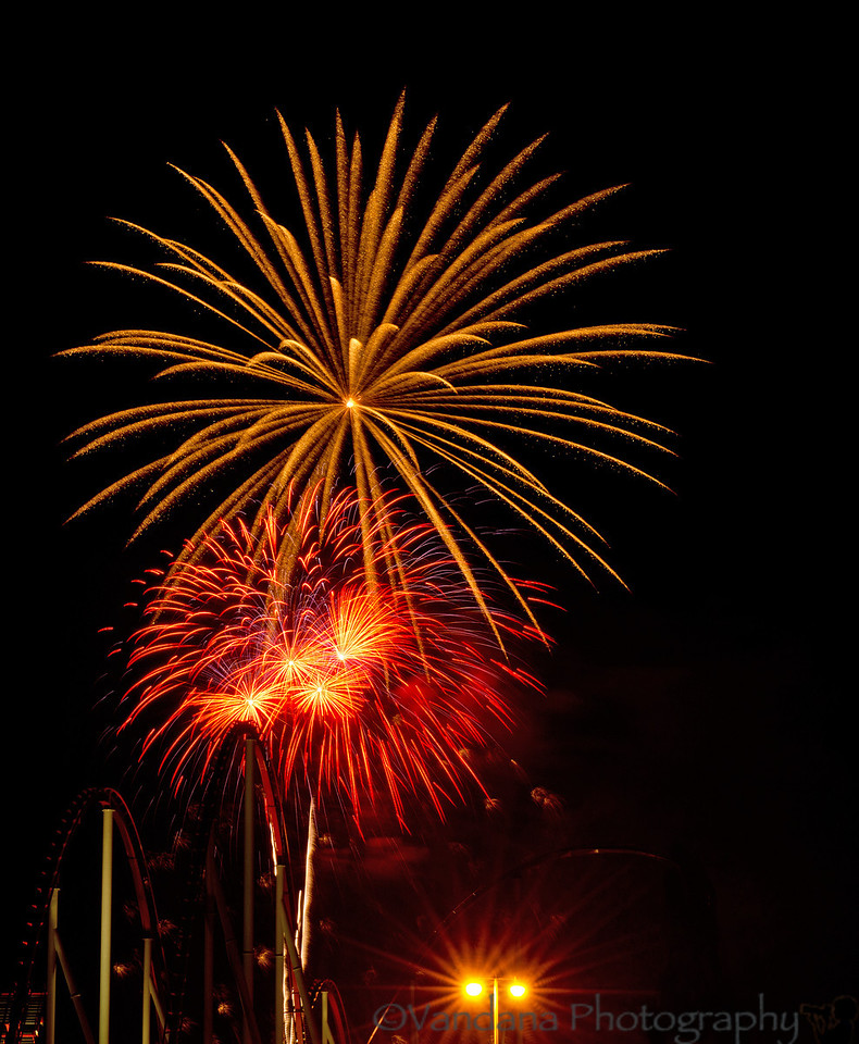 July 5, 2012 - more fireworks at Carowinds theme park