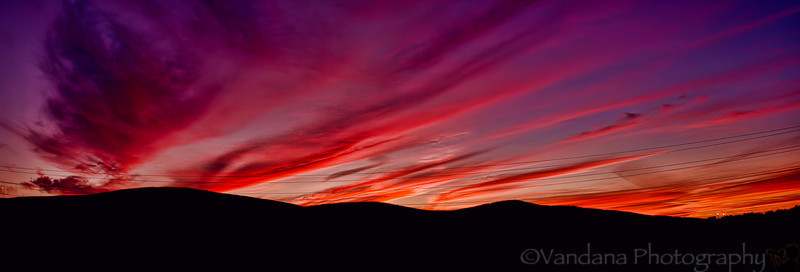September 23, 2012 - a fiery sunset