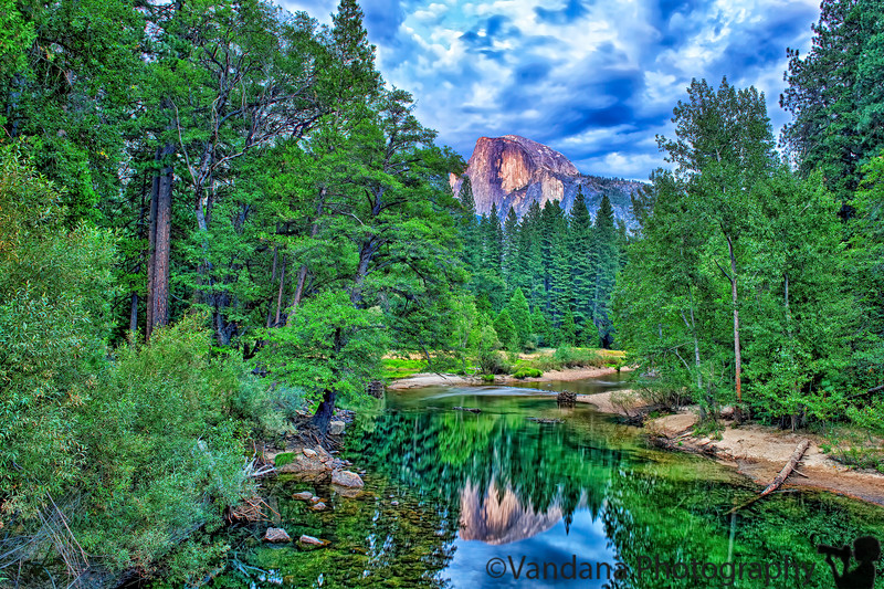 August 20, 2012 - Half dome - as seen from the sentinel bridge - taken post-sunset, with long exposures<br /> <br /> many late uploads on august 25th ! Hoping to catch up with the dailies soon !