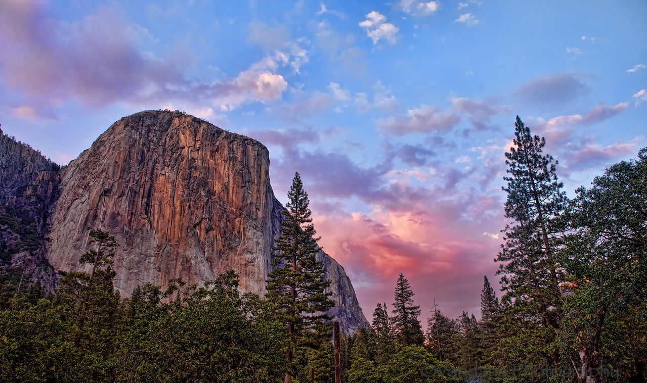 August 21, 2012 - Another view of the sunset at Yosemite Valley